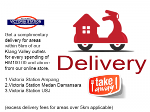 Complimentary 5km Delivery (for RM100.00 purchase or more)
